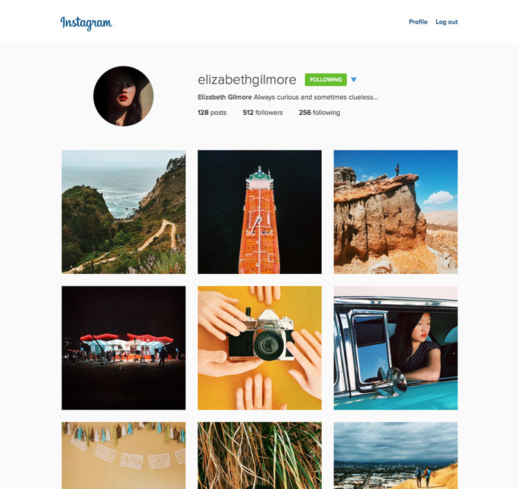 Desktop Profile.instagram