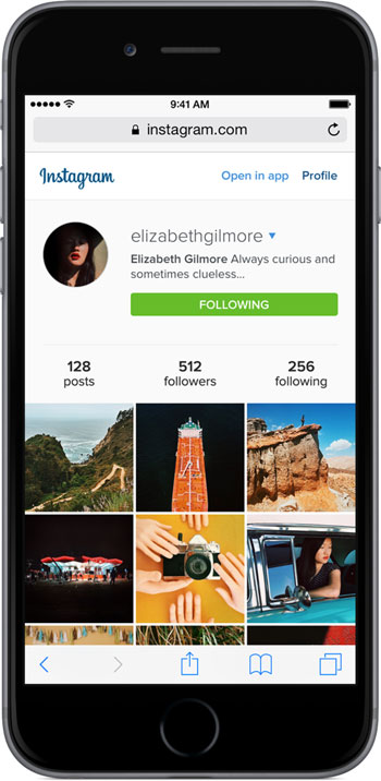 instagram redesign mobile